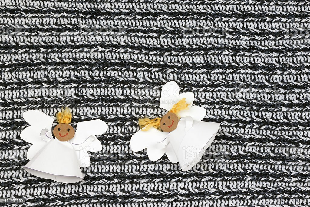 Two cheerful paper angel royalty-free stock photo