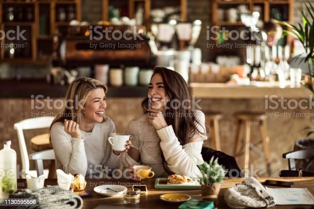 Two cheerful women having fun during coffee time in a cafe picture id1130595856?b=1&k=6&m=1130595856&s=612x612&h=ymkxnpoqj4k47yk5pfrh6duydxjvfy3dts00ajildkc=