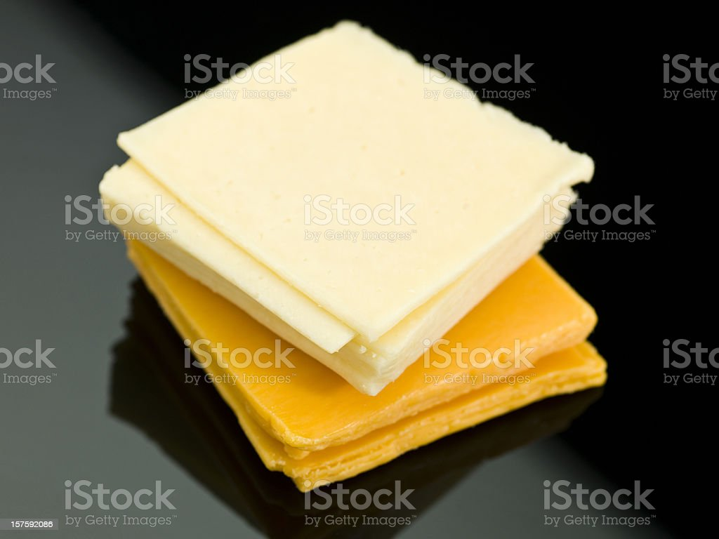 Two cheeses stock photo