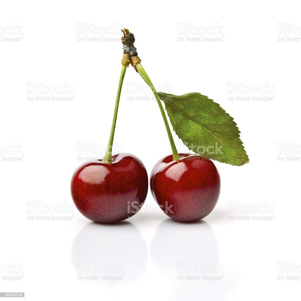 Two Cherries stock photo