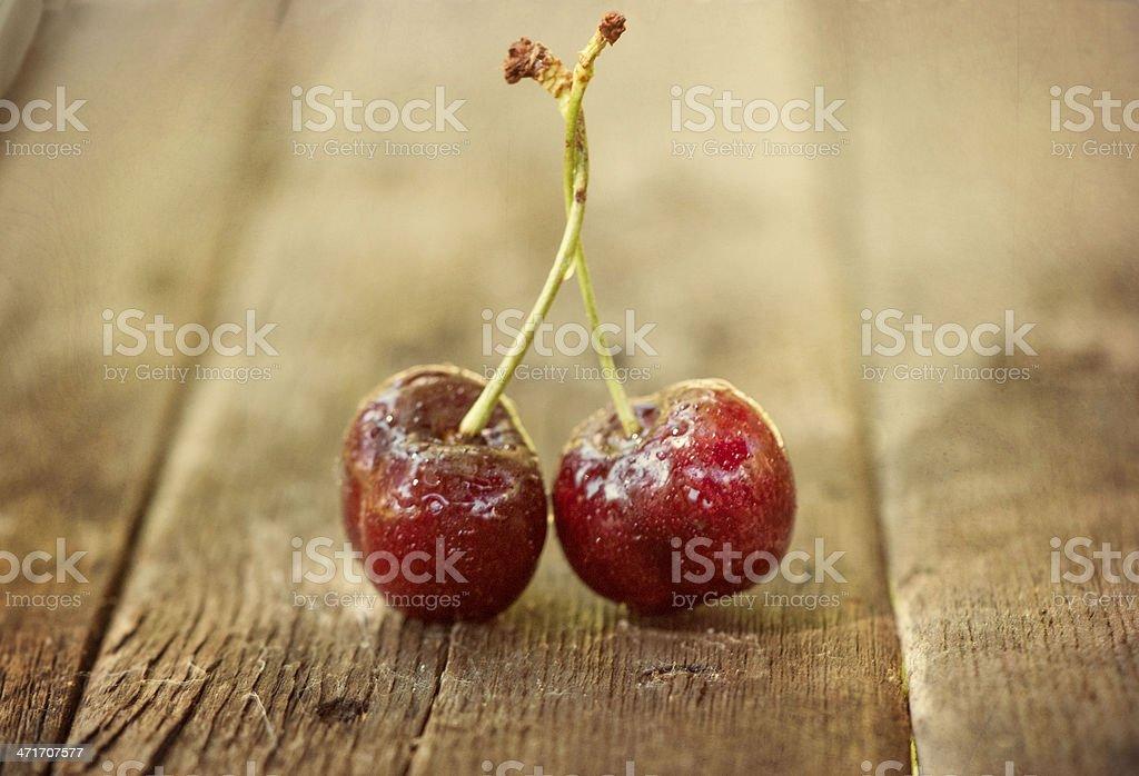 Two Cherries royalty-free stock photo