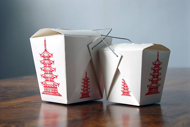 Two Chinese Boxes stock photo