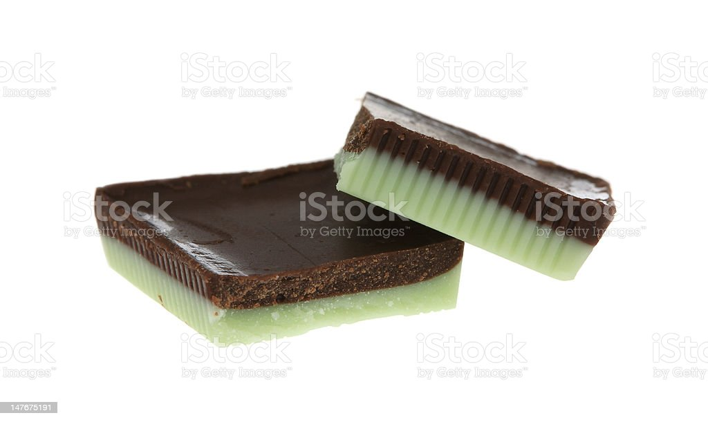 Two Chocolate Mints royalty-free stock photo