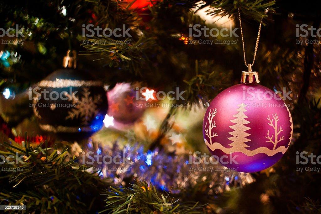 two christmas balls royalty-free stock photo