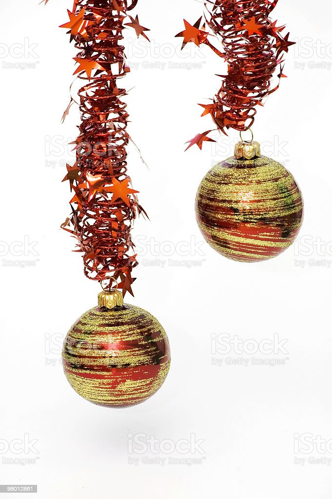 Two Christmas Red Ornament royalty-free stock photo