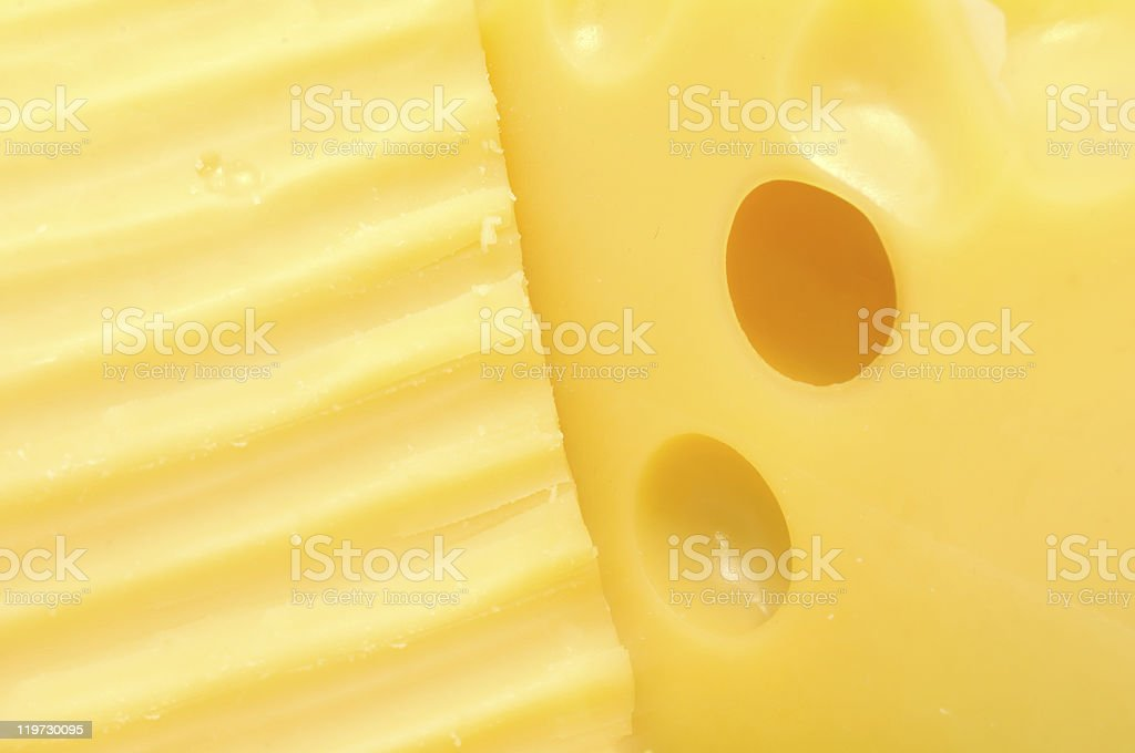 Two Chunks of Cheese royalty-free stock photo