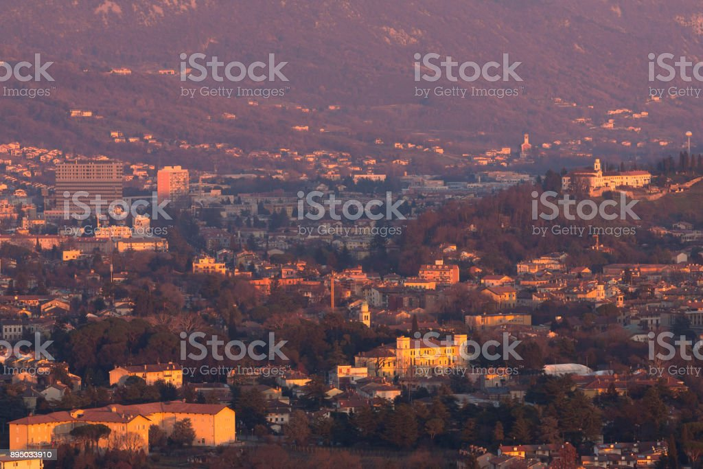 Two Cities stock photo