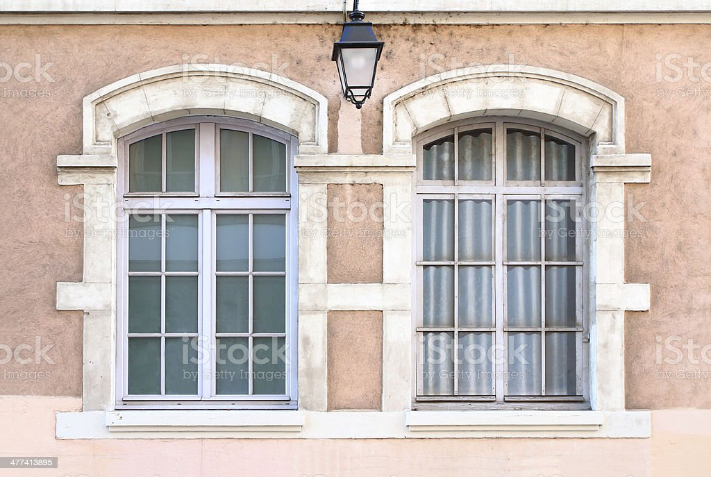 Two classic windows royalty-free stock photo