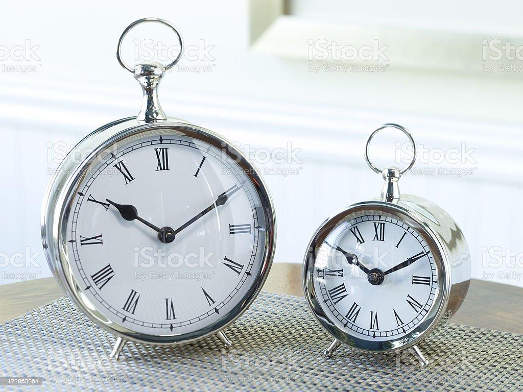 Antiques silver clocks