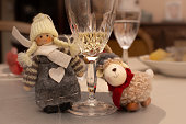 istock Two cloth figures on the christmas table decoration 1295831988