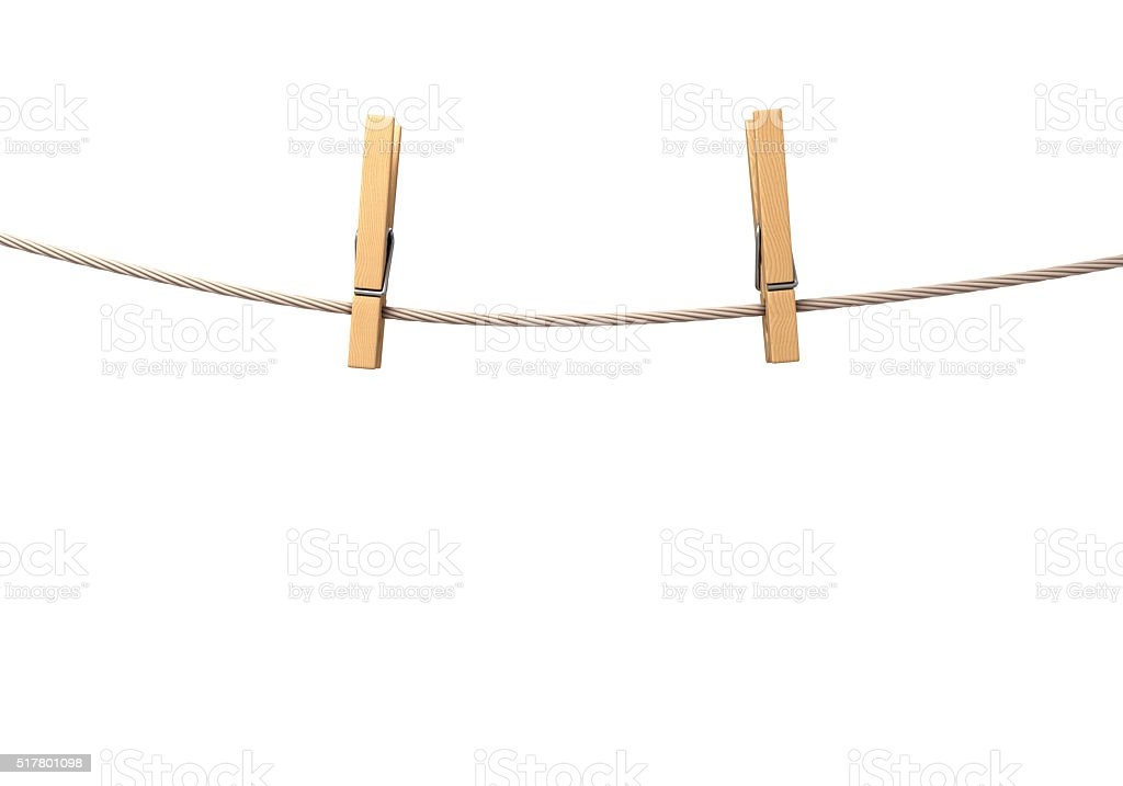 two clothespins stock photo