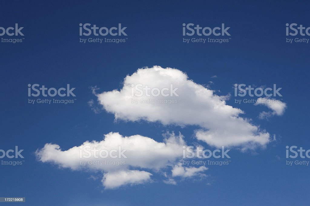 two clouds royalty-free stock photo
