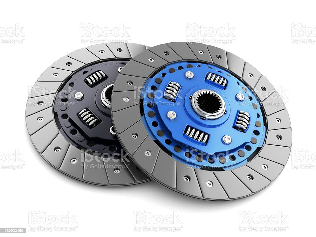 Two clutch disc car stock photo