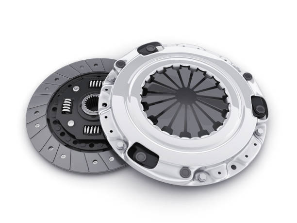 Two clutch disc car Two clutch disc car on white background (done in 3d, cgi) vehicle clutch stock pictures, royalty-free photos & images