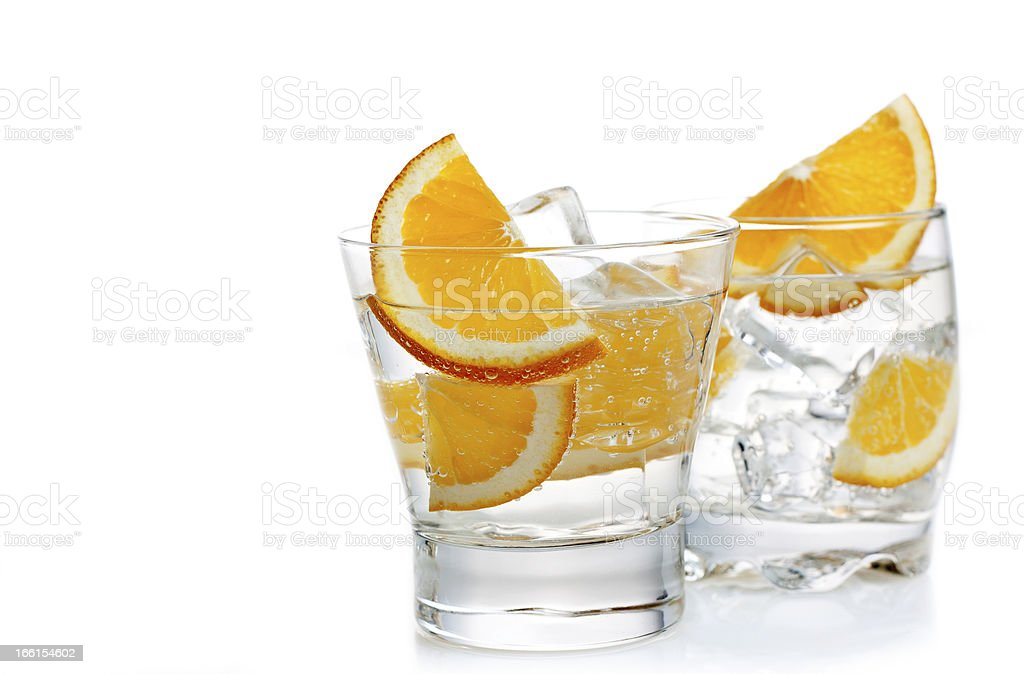 Two cocktails royalty-free stock photo