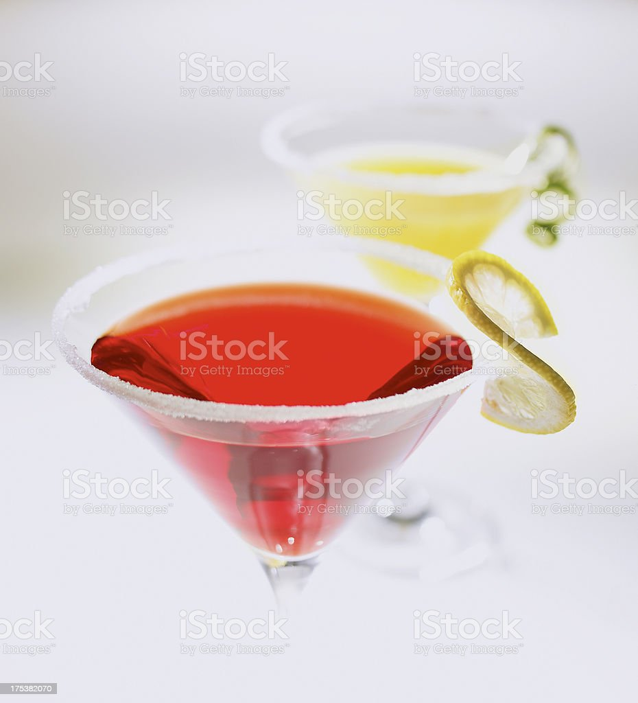Two cocktails stock photo
