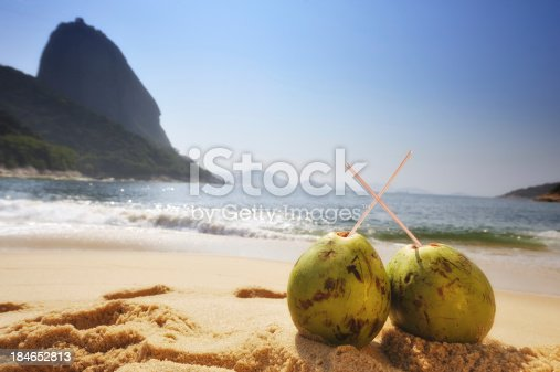 Two Coconuts on the beaches of Rio de Janeiro