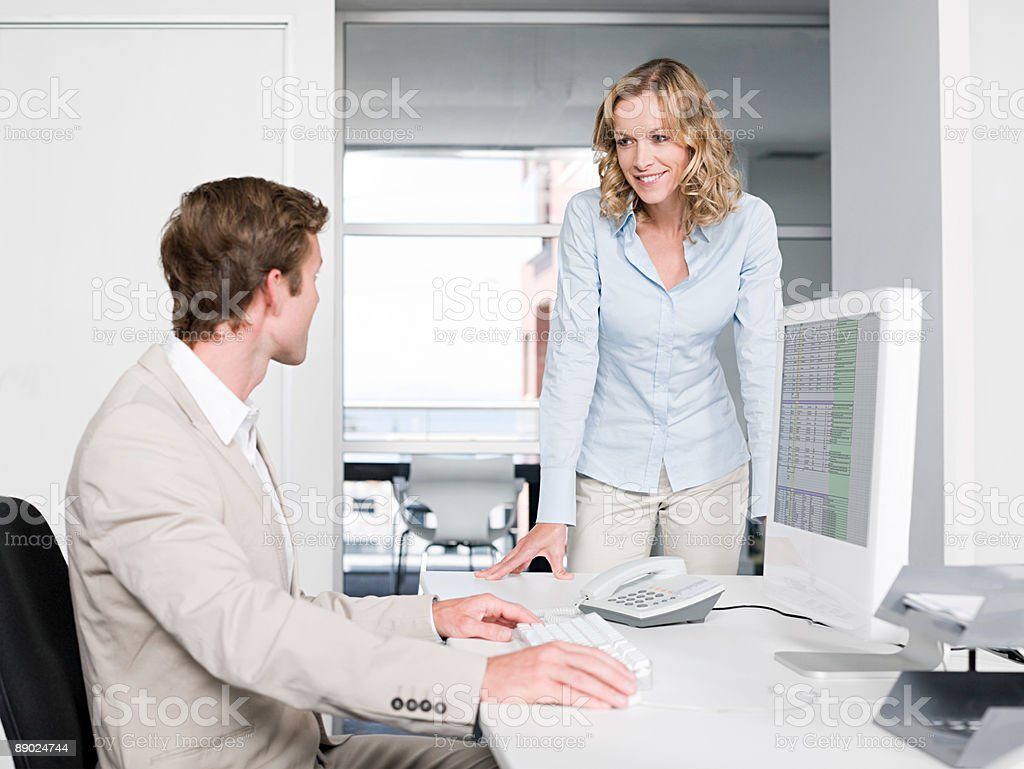 Two colleagues in an office 免版稅 stock photo