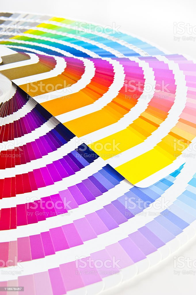 Two Color charts stock photo