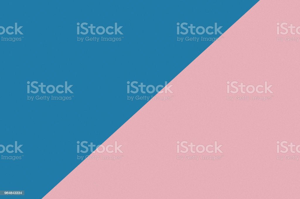 Two color paper with blue and pink of the image. Background royalty-free stock photo