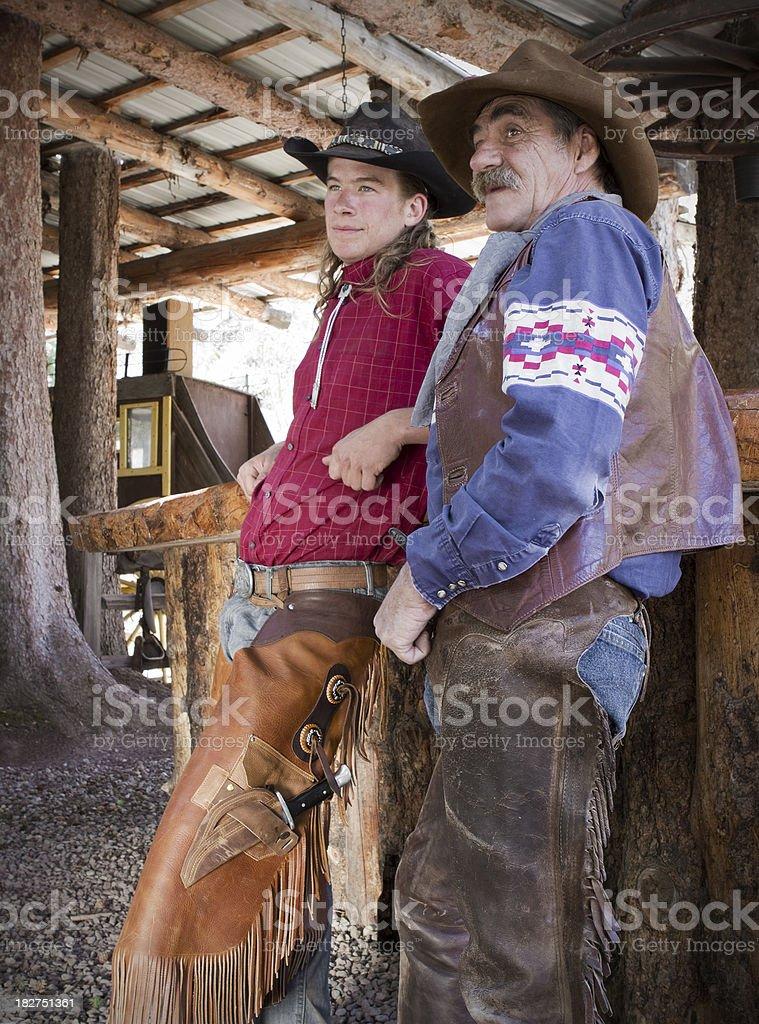 Two Colorado Cowboys royalty-free stock photo