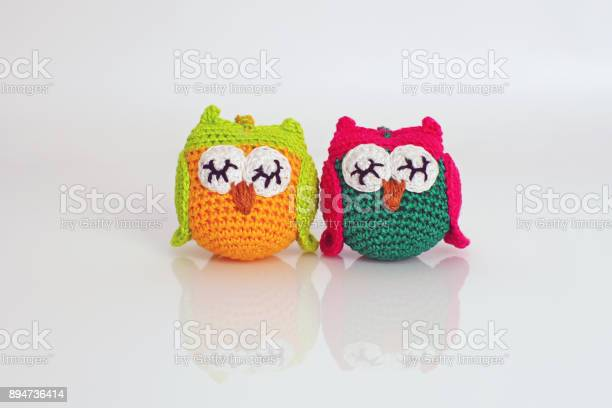 Two colorful handmade knitted owls placed on a white background picture id894736414?b=1&k=6&m=894736414&s=612x612&h=4ivx6ogiratqddqw9ewgebwrzkabtfkm2iqmz6kobam=