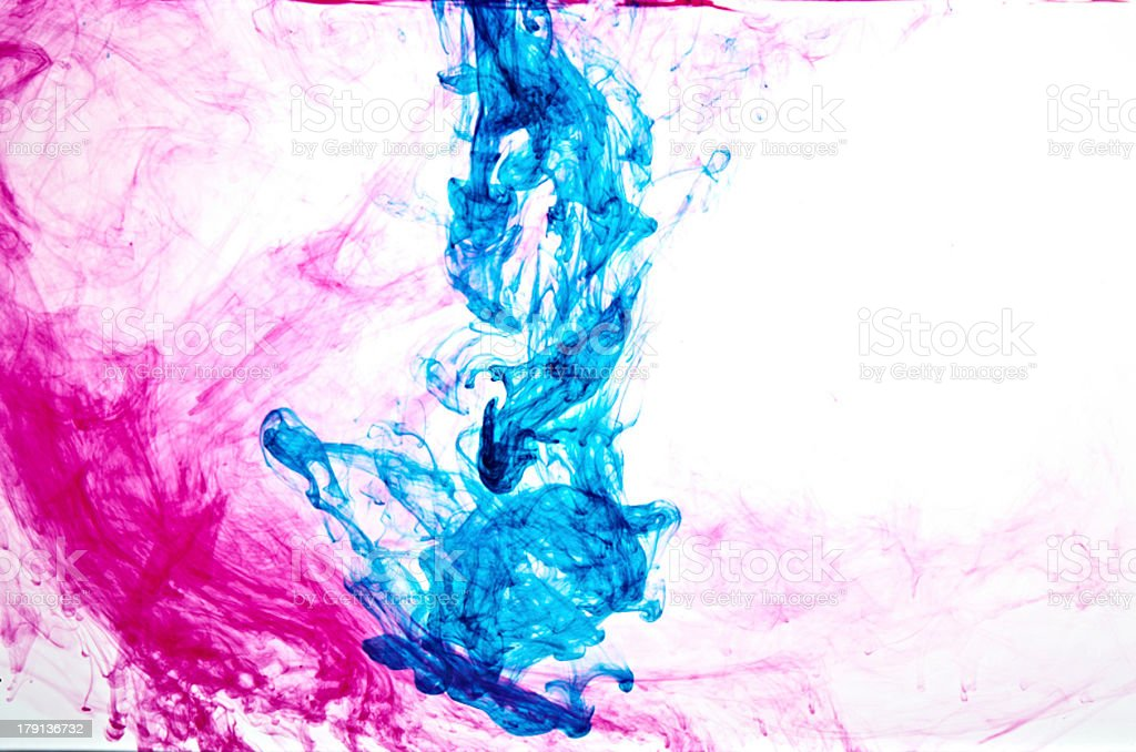 two coloured ink royalty-free stock photo