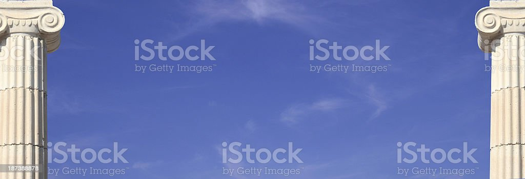 Two columns royalty-free stock photo