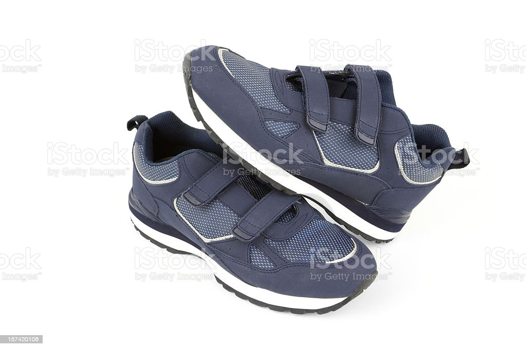 Two Comfortable Blue Shoes stock photo