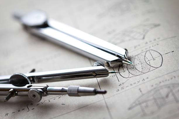 drawing compass - pengpeng stock-fotos und bilder