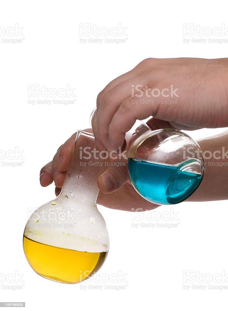 two component chemistry experiment royalty-free stock photo