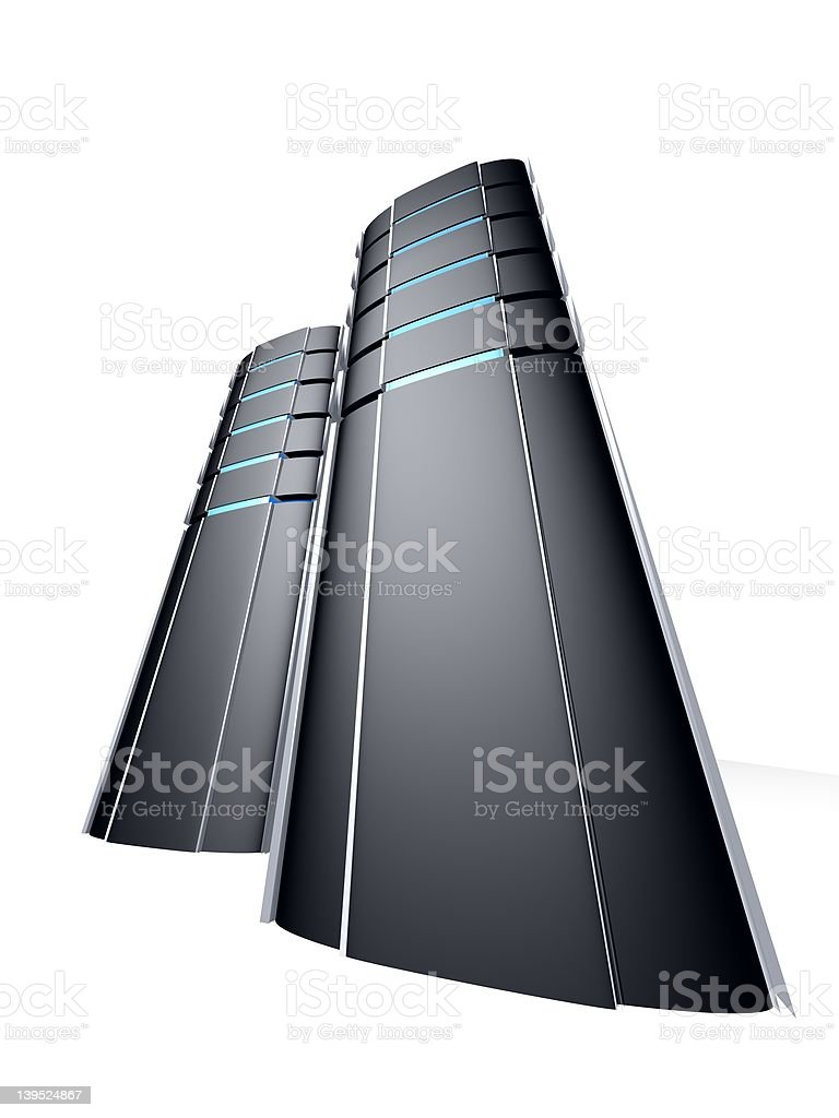 two computer towers royalty-free stock photo