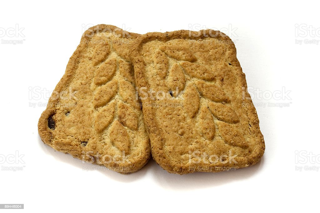 Two cookies royalty-free stock photo