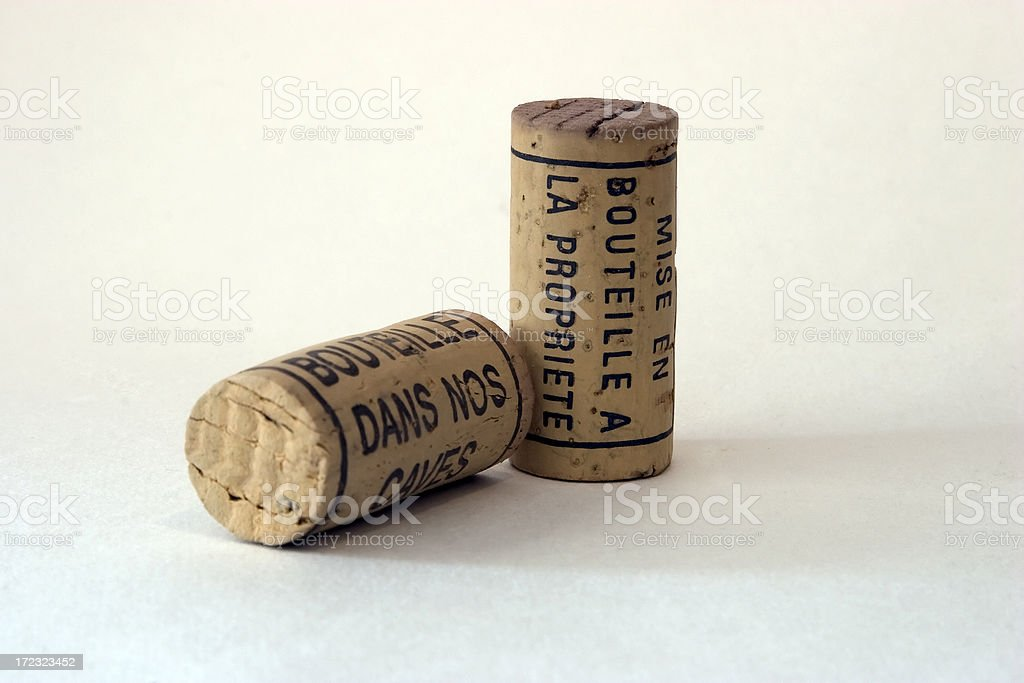 Two corks stock photo