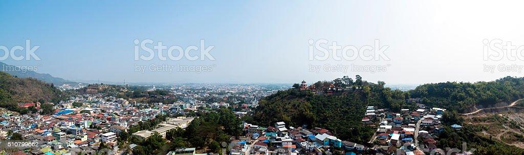 Two Countries Panorama stock photo