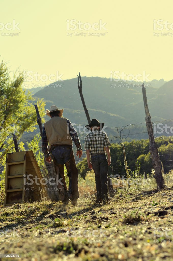 Two Cowboys stock photo