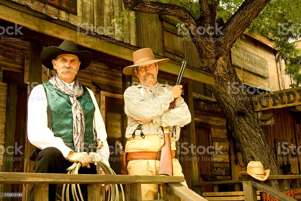 Two cowboys royalty-free stock photo