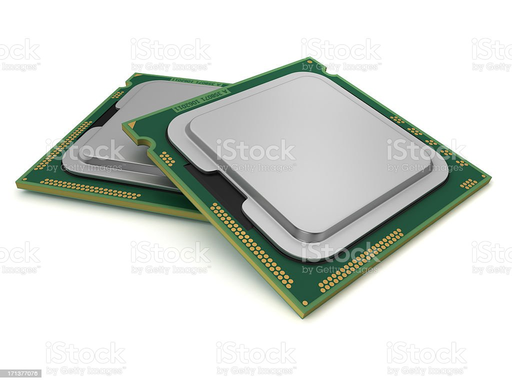 Two CPU royalty-free stock photo