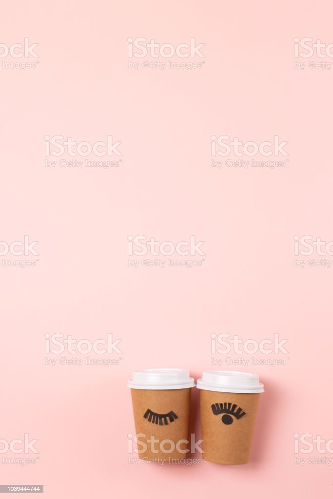 Two Craft Cups Of Coffee To Go Stock Photo Download Image Now