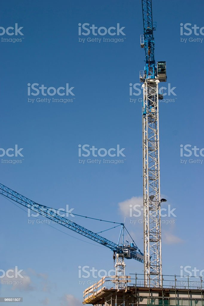 Two cranes royalty-free stock photo