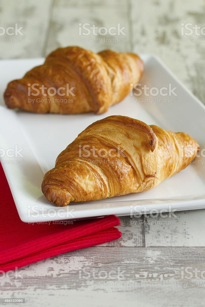 Two croissants royalty-free stock photo
