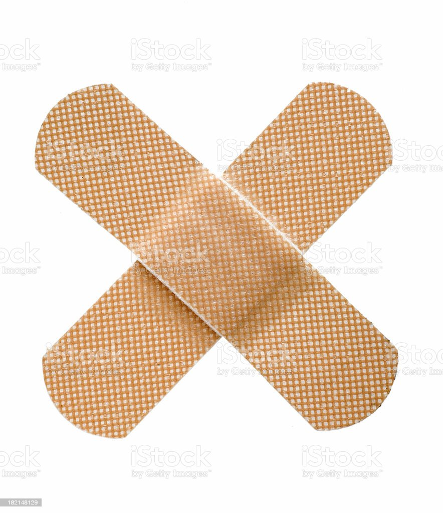 Two Crossed Bandages stock photo