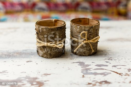 istock two cups of bark on a wooden table 871369878
