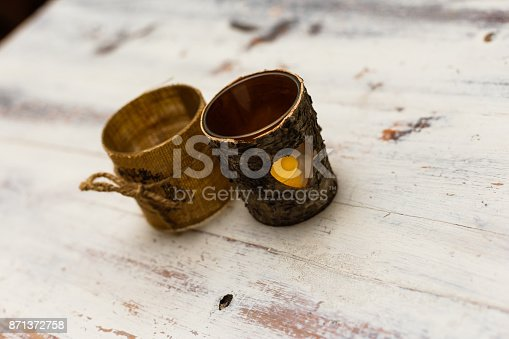 istock two cups of bark on a wooden table 871372758