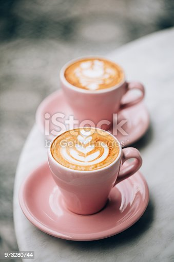 istock Two cups of cappuccino. 973280744