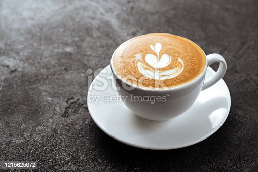 1009835562 istock photo two cups of coffee on black stone background 1215625072