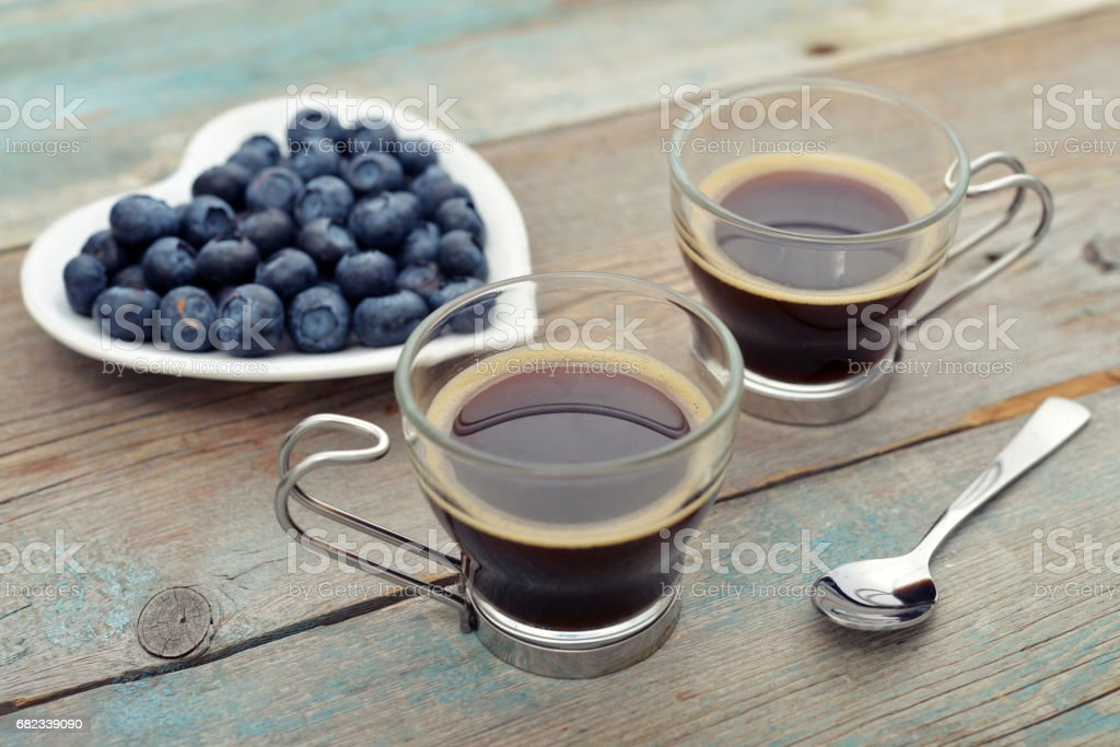 Two cups of coffee royalty free stockfoto