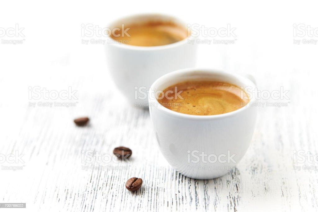 Deux tasses d'expresso - Photo