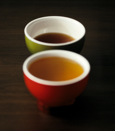 Two Cups Of Tea On A Table Stock Photo - Download Image Now