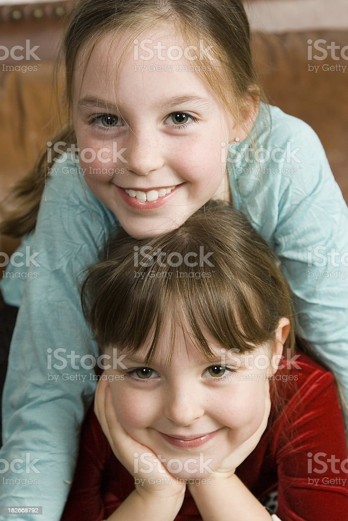 Two Cute Girls royalty-free stock photo